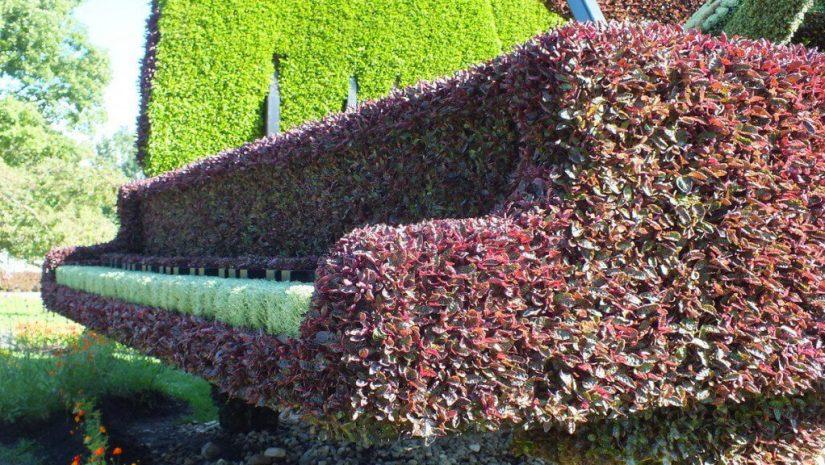 The Piano (closeup of piano keys) - Mosaiculture - Montreal Botancial Gardens