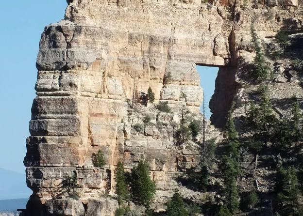 angels window, on north rim, grand canyon, arizona