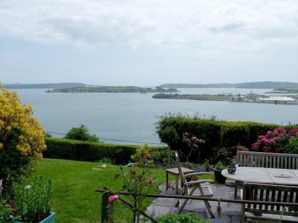 cork harbour, view from amberleigh house, cobh, ireland