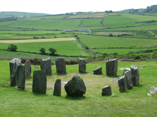 Drombeg Stone Circle east of Glandore, County Cork, Ireland.