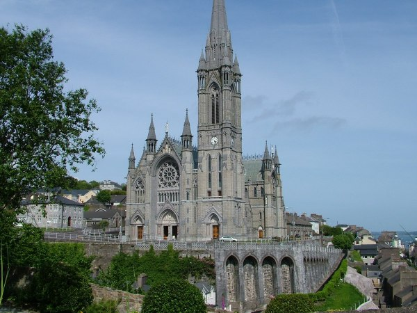 st colman cathedral, above lower town, cobh, county cork, ireland