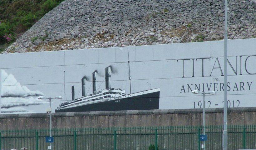titanic 100th anniversary sign, cobh, county cork, ireland