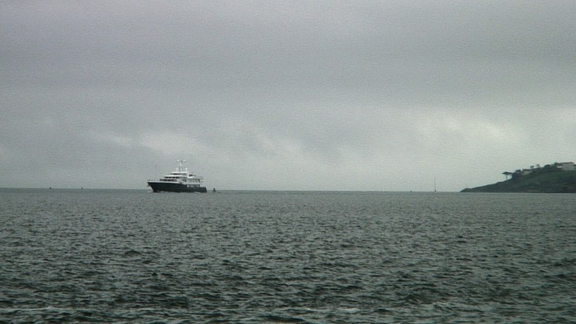 titanic's last anchorage spot, where launch boat is located, off cobh town, county cork, ireland