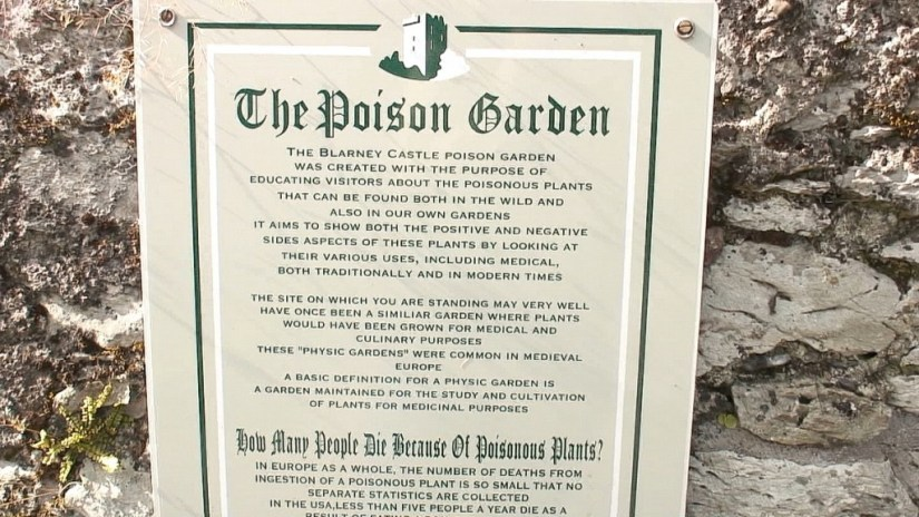 An image of the entrance sign into the Poison Garden at Blarney Castle in County Cork, Ireland. Photograph by Frame To Frame - Bob and Jean.