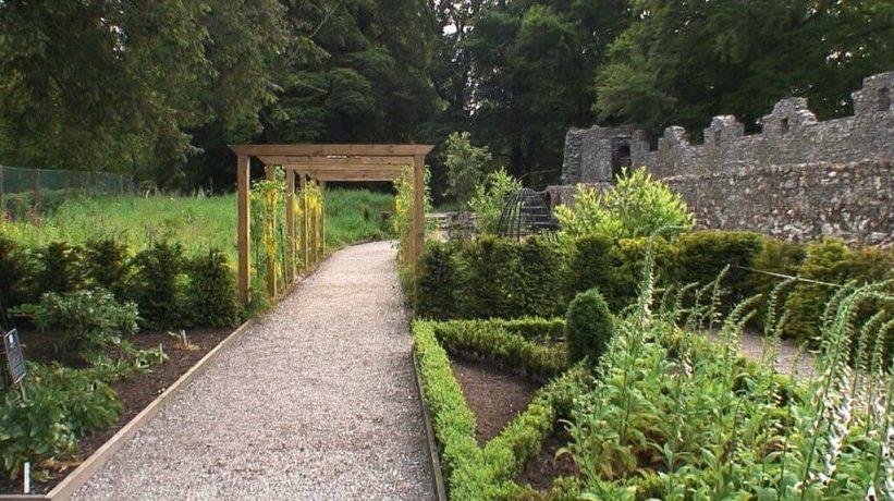 Walkway through the Poison Garden at Blarney Castle in County Cork, Ireland