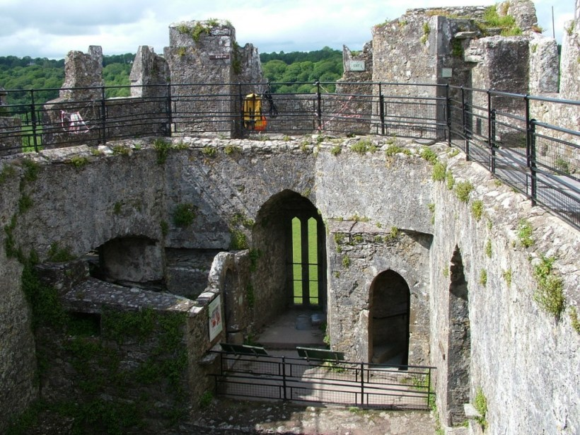 blarney castle interior walls, county cork, ireland