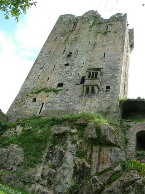 An image looking up the side of the Blarney Castle tower near Cork, Ireland. Photography by Frame To Frame - Bob and Jean.