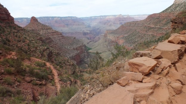 Section of Bright Angel Trail at Grand Canyon National Park, Arizona, U.S.A.