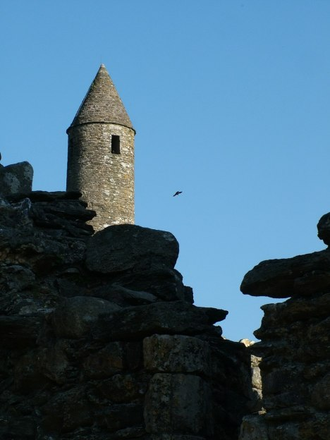 Top of The Round Tower - Glendalough - Ireland