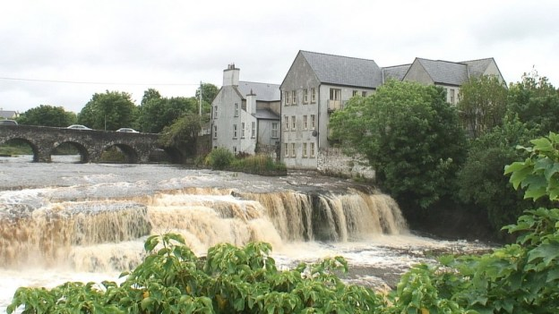 The Cascade waterfalls on the Inagh river in Ennistymon, County Clare, Ireland