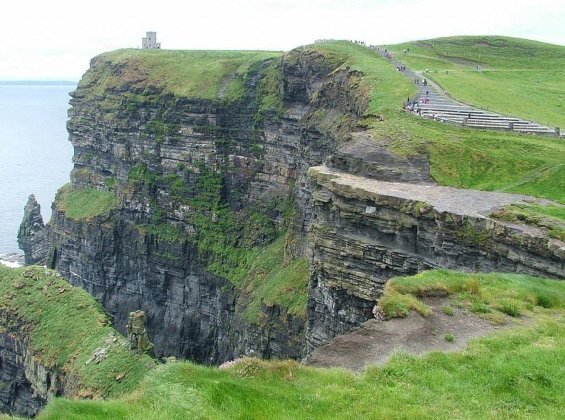 O'Briens Tower on a headland at Cliffs of Moher in County Clare, Ireland
