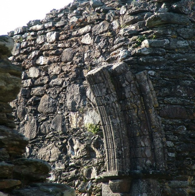 entrance to glendalough cathedral - ireland