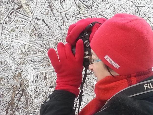 ice storm toronto 2013 - jean takes pic