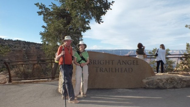 jean and bob at top of bright angel trail 39
