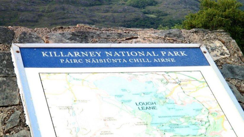 killarney national park sign, ireland