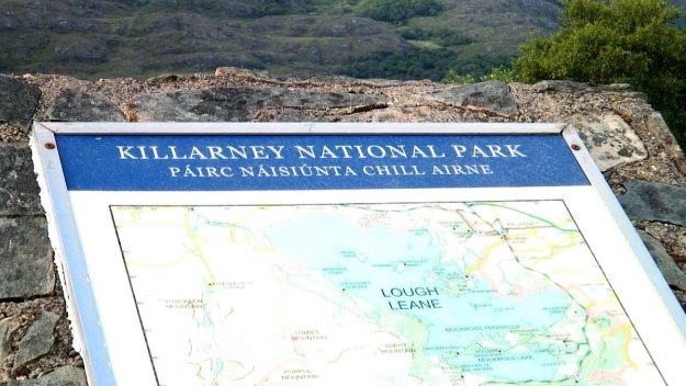 killarney national park sign, ireland