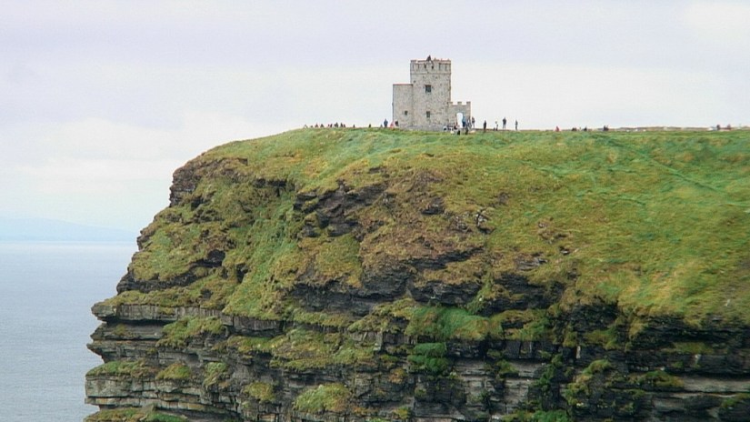 O'Briens Tower at the Cliffs of Moher in County Clare, Ireland