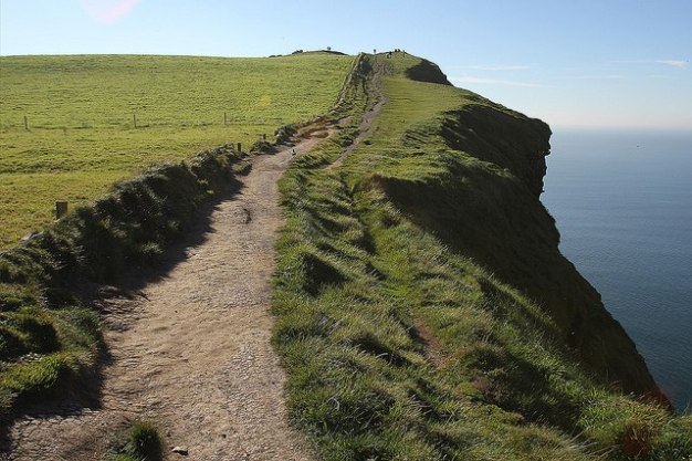 Trail to Hag's Head at the Cliffs of Moher in County Clare, Ireland