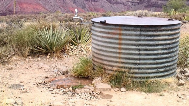 water on plateau point hiking trail