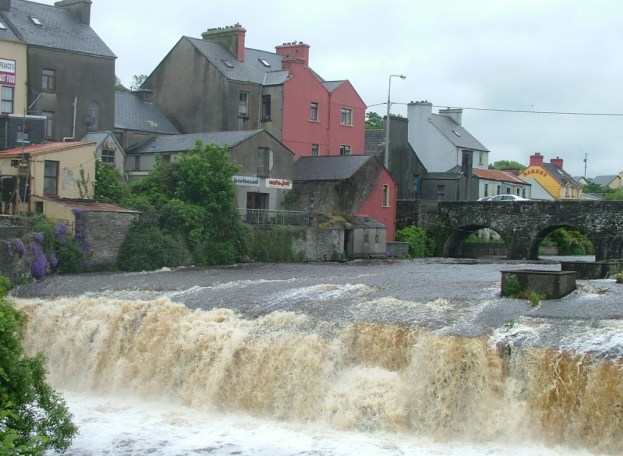 The Cascades waterfalls in Ennistymon, County Clare, Ireland