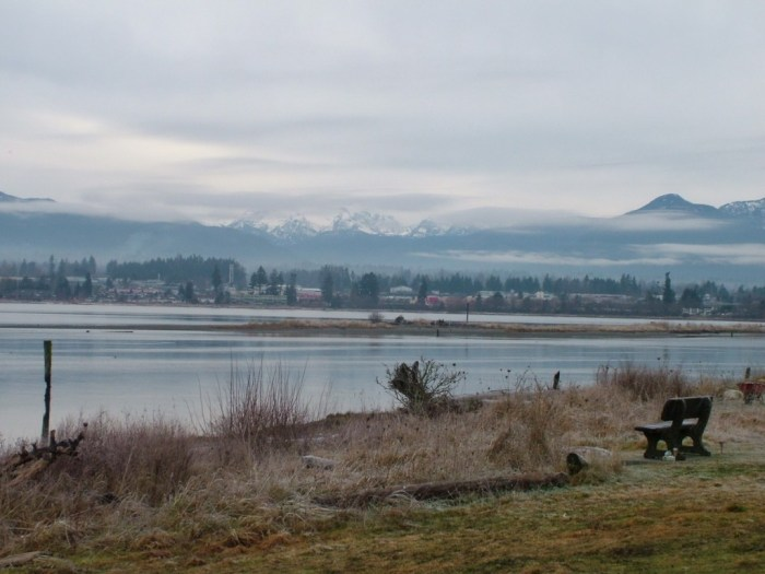 shoreline park near comox - british columbia