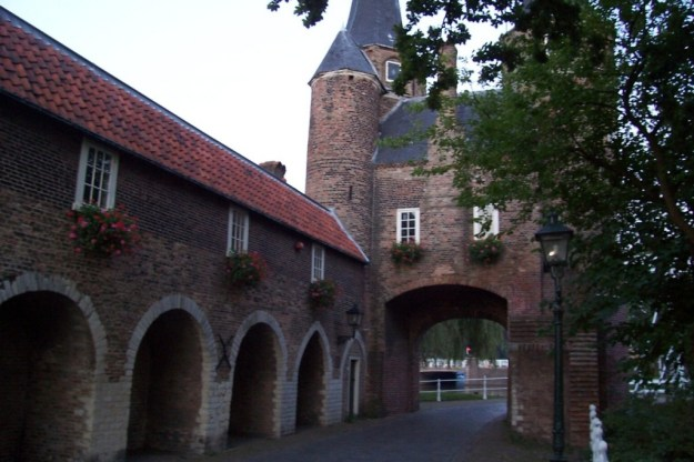 Oostpoort - east gate in delft - netherlands