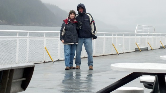 jean and bob aboard BC ferrry