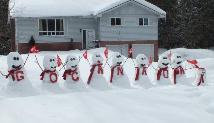 olympic snowmen - huntsville ontario 2