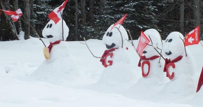 olympic snowmen - huntsville ontario 5