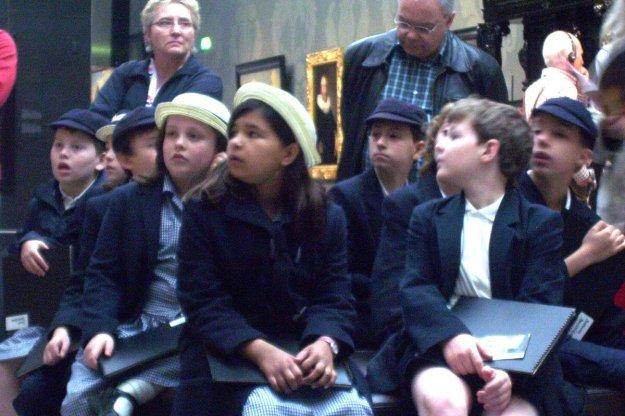 students inside rijksmuseum - amsterdam - the netherlands