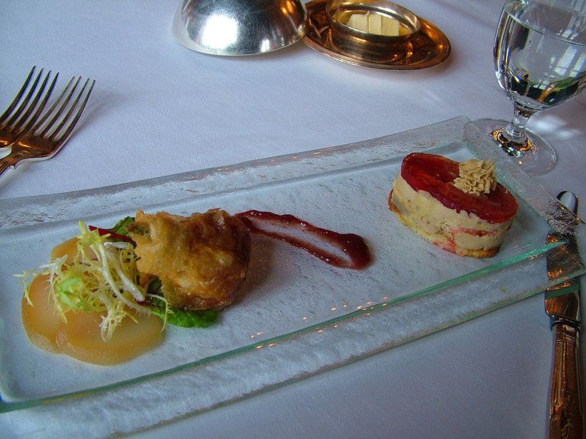 An image of an amuse-bouche served before dinner at Ashford Castle in County Mayo in Ireland. Photography by Frame To Frame - Bob and Jean.