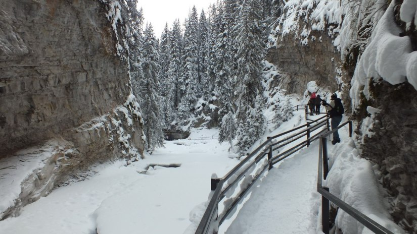 johnston canyon in winter - banff 5