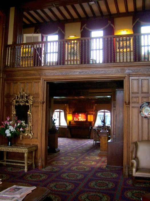 An image of the foyer inside Ashford Castle in County Mayo in Ireland. Photography by Frame To Frame - Bob and Jean.