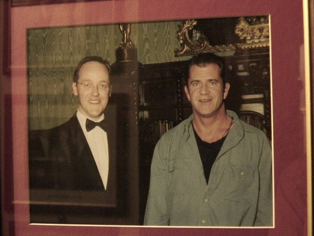 An image of Mel Gibson at Ashford Castle in County Mayo in Ireland.