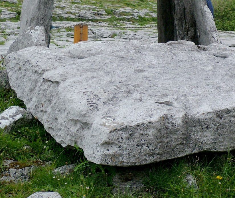 An image of the cairn stone at Poulnabrone Dolmen on the Burren in County Clare in Ireland. Photography by Frame To Frame - Bob and Jean.