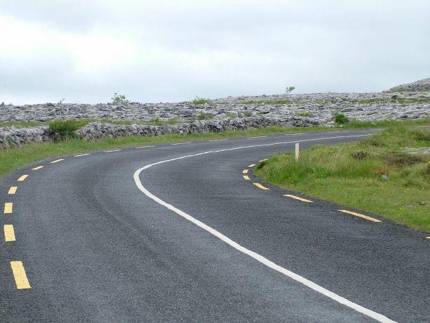 road through the burren in county clare - ireland