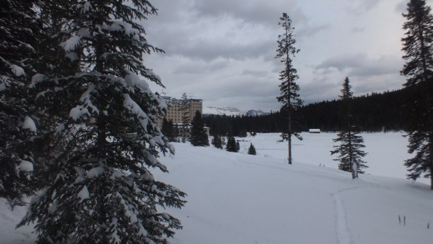 Winter at Lake Louise in Banff National Park, Alberta, Canada
