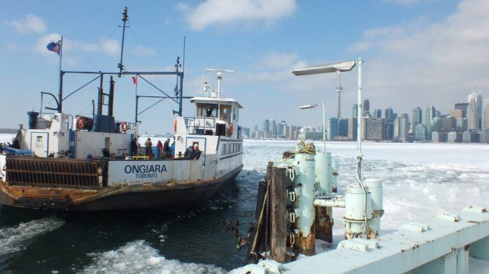 toronto ferry ongiara approaches ward's island ferry dock