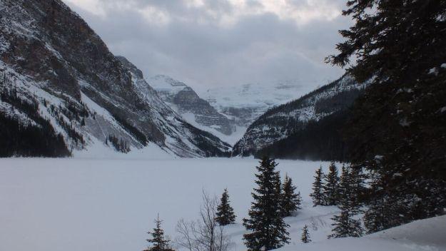 Lake Louise in winter at Banff National Park, in Alberta, Canada
