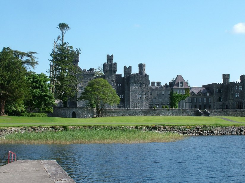 ashford castle viewed from wharf - ireland