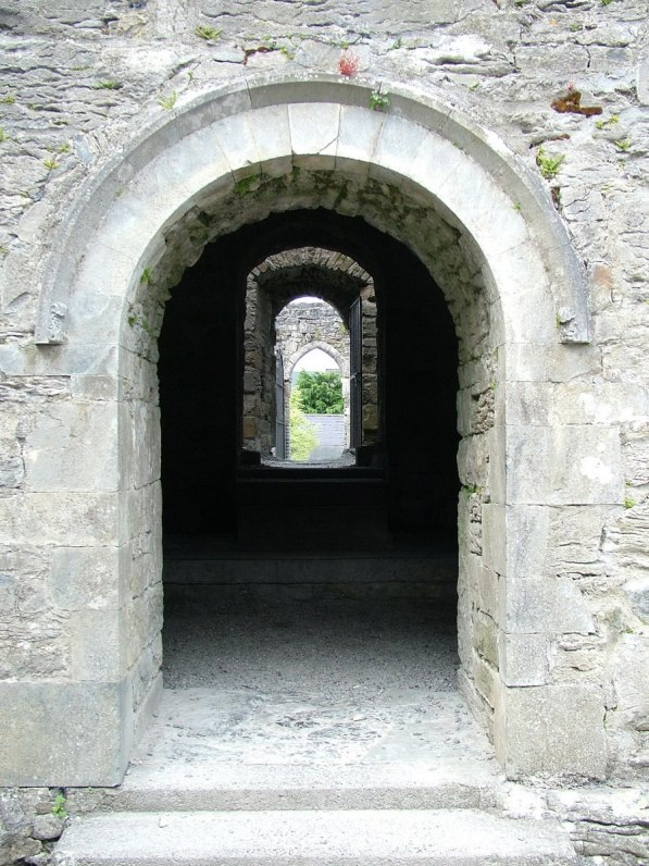 An image of the stone door entrance to Cong Abbey, in Cong, County Mayo, Ireland. Photography by Frame To Frame - Bob and Jean.