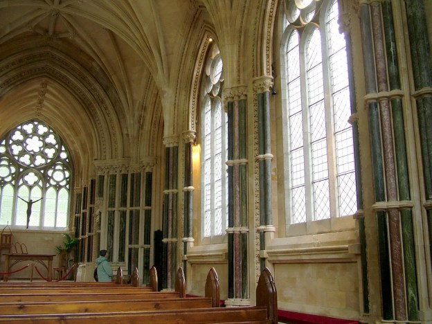 interior of Gothic memorial cathedral at kylemore abbey_County Galway_Ireland