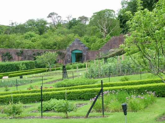 The Walled Victorian Garden at Kylemore Abbey in Ireland