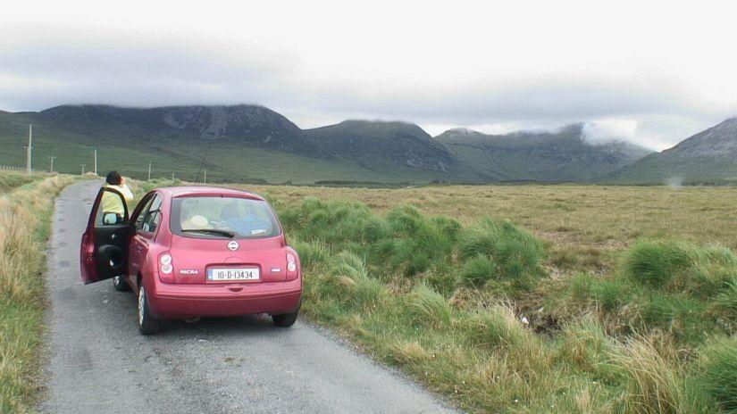 from right - benfree mountain - muckanaght mountain - bencullagh mountain - twelve bens in ireland
