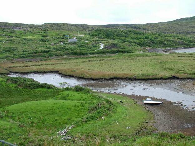 n59 running through hillsides - county galway - ireland