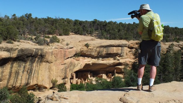 filming above spruce tree house at mesa verde national park - colorado 4
