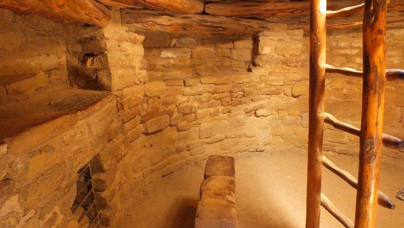 inside a spruce tree house kiva - mesa verde national park - colorado 1