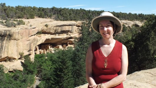 Jean at Mesa Verde National Park in Colorado, U.S.A.