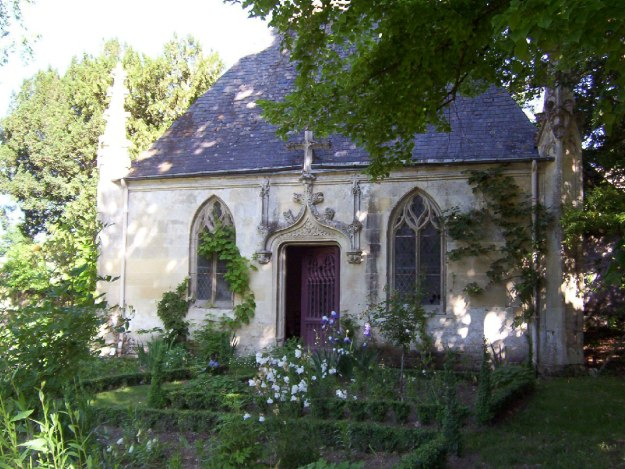 An image of the small Chapel at Chateau de la Bourdaisiere in the Loire Valley, France.