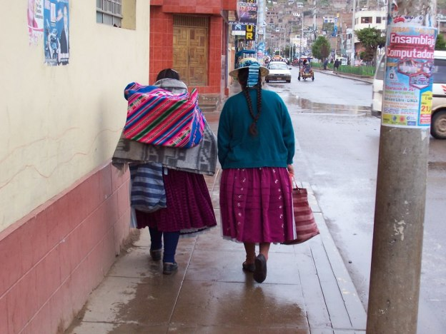 Indigenous native ladies - puno peru